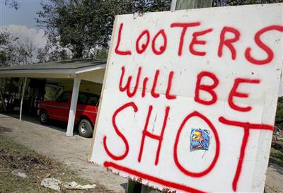 Looters Will Be Shot!